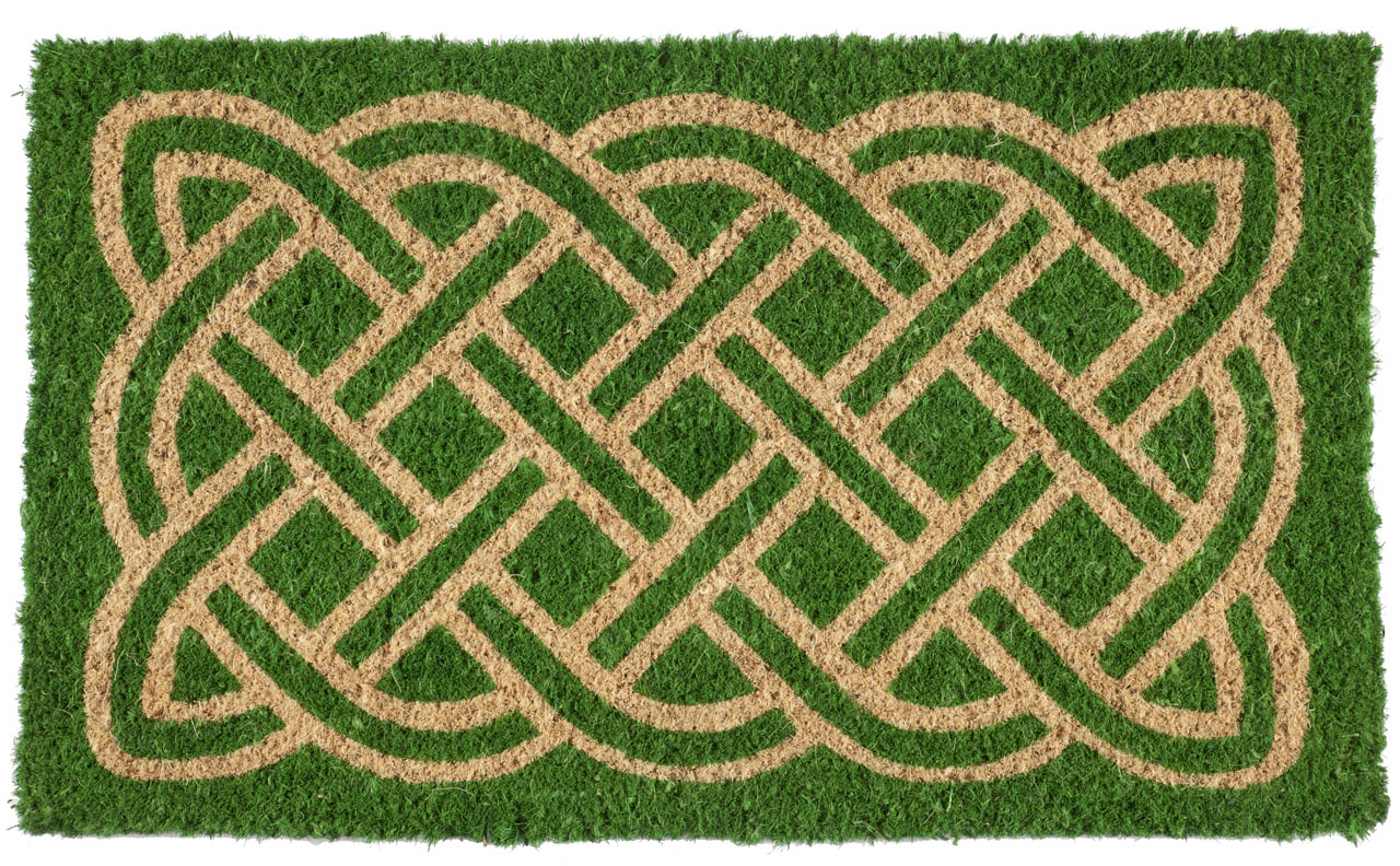 Celtic Handwoven Coconut Fiber Doormat Entryways