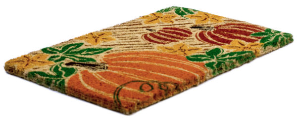 Pumpkin Patch Handwoven Coconut Fiber Doormat