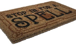 Stop in for a Spell Handwoven Coconut Fiber Doormat