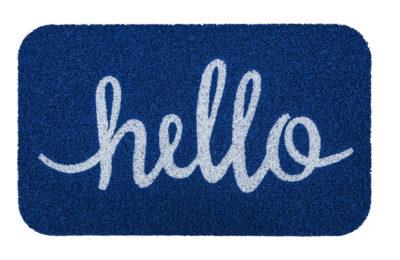 Simply Hello PVC Doormat