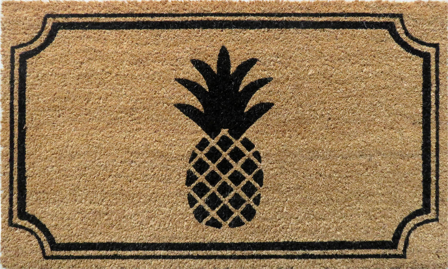 Pineapple 18x30 Coir Doormat With Backing Entryways