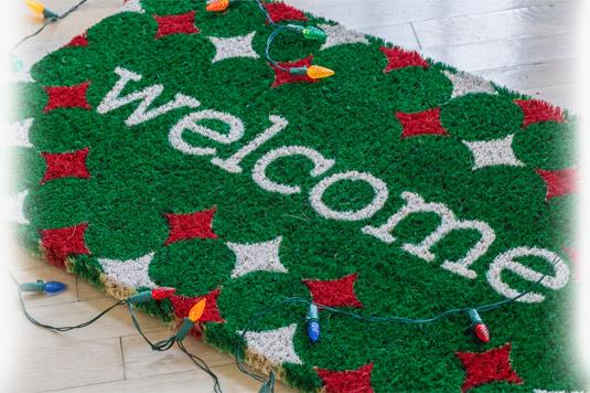Christmas Welcome Doormat